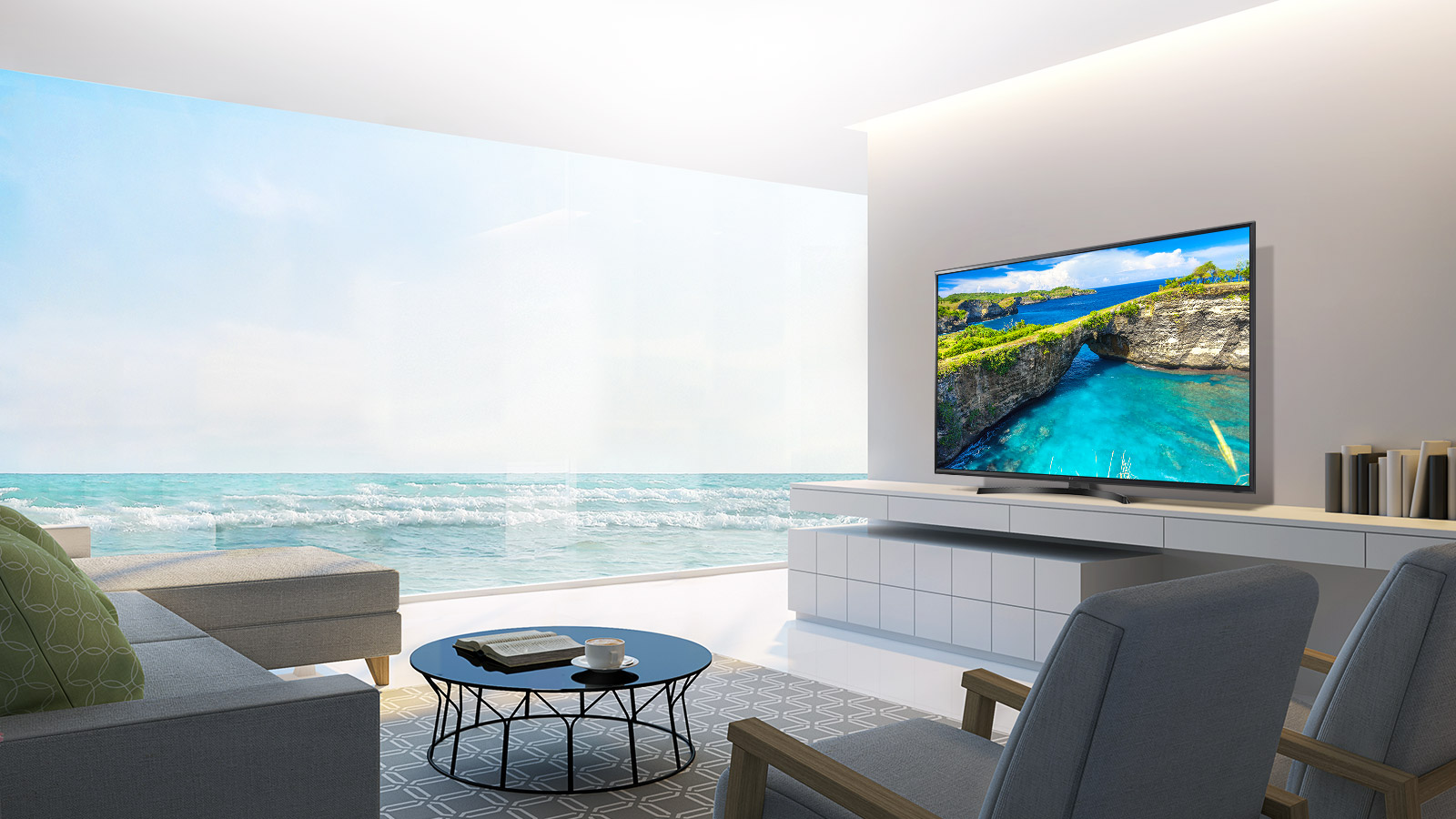 تلویزیون LED ال جی سایز 49 اینچ مدل UK6400